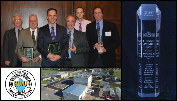 Kenosha Water Utility's Energy Optimized Resource Recovery Project Receives Top Engineering Excellence Award in Wisconsin Header Image