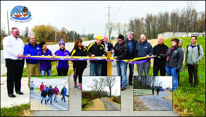 City of Two Rivers Dedicates New Raider Bike and Pedestrian Trail Header Image